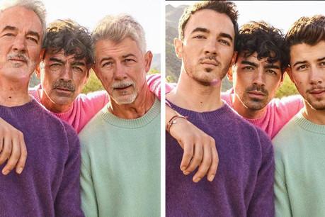 L'application FaceApp a fait le tour du star-system: ici, les Jonas Brothers vieillis de quelques dizaines d'années (et non de mille ans comme indiqué par erreur sur leur compte Instagram). (Photo: Instagram)
