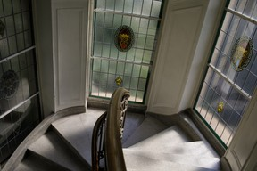 Stained glass windows in the stairways Matic Zorman / Maison Moderne