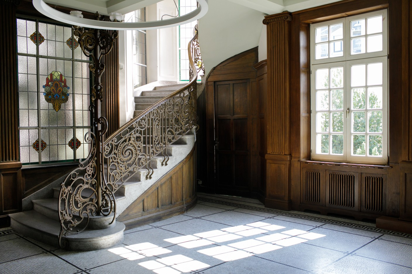 The imposing staircase has survived through the decades but little is known about how the interior looked originally Matic Zorman / Maison Moderne