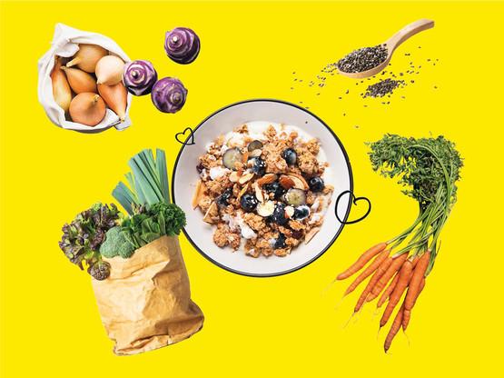 Bio, local, sans emballages: manger mieux à Luxembourg, c'est possible! (Design : Eva Pontini/Maison Moderne)