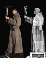 Comparaison entre la sculpture et sa radiographie. ((Photo: CHdN))