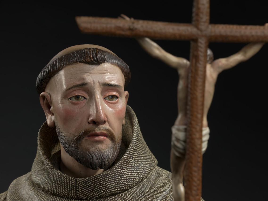 Détail de la sculpture de saint François d'Assise par Pedro de Mena. (Photo: Dominique Provost)