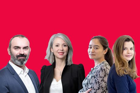 LaurentCooreman,Kathia Robert,MurielSam et AurélieFrédureau. (Photo: Montage Maison Moderne)