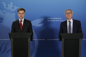 Le ministre de l'Économie, Franz Fayot (LSAP), et le ministre des Finances, Pierre Gramegna (DP), ont été convoqués en commission parlementaire. (Photo: Maison Moderne/capture d'écran)