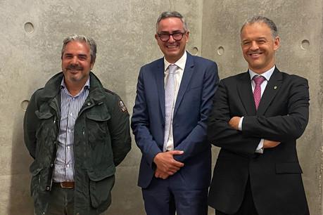 Tun DiBari, ErnestPirsch et MichelReckinger, les nouveaux visages de la FDA. (Photo: Fédération des artisans)