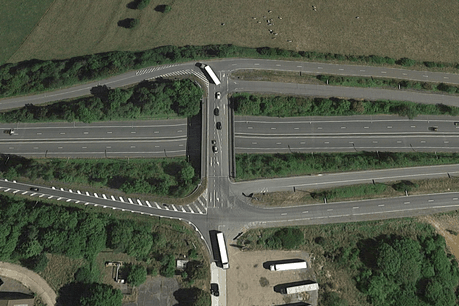 Le pont «de la Hart» sera fermé jusqu'au 18 octobre. (Photo: Capture d'écran / Google Maps)