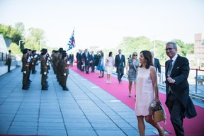 À droite, Pierre Gramegna (Ministre des finances) ((Photo: Nader Ghavami))