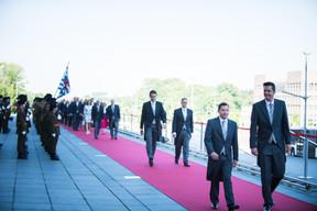 À droite, Lex Delles (Ministre des Classes moyennes) ((Photo: Nader Ghavami))
