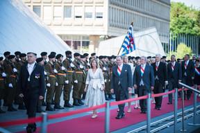 À droite, Fernand Etgen (Président de la Chambre des députés) ((Photo: Nader Ghavami))