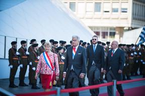 À gauche, Simone Beissel (DP) et Laurent Mosar (CSV) et Marc Angel (LSAP) ((Photo: Nader Ghavami))