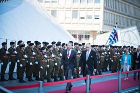 À gauche, Gilles Roth (CSV) ((Photo: Nader Ghavami))