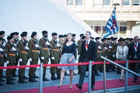 À droite, Serge Wilmes (CSV) et son épouse ((Photo: Nader Ghavami))