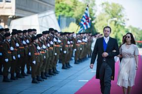 À gauche, Christophe Hansen (CSV) ((Photo: Nader Ghavami))