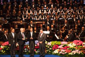 Xavier Bettel (Premier ministre), Jean-Claude Reding (Président de l'OGBL), S.A.R. le Grand-Duc et Fernand Etgen (Président de la Chambre des députés) ((Photo: Nader Ghavami))