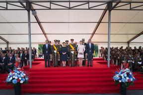 Xavier Bettel (Premier ministre), S.A.R. la Grande-Duchesse Maria Teresa, S.A.R. la Princesse Stéphanie et François Bausch (Ministre de la Défense) ((Photo: Nader Ghavami))
