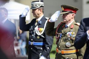 (de g. à dr.) Philippe Schrantz, directeur général de la police grand-ducale ; Général Alain Duschène, chef d'état-major de l'armée (© SIP / Sophie Margue, tous droits réservés)