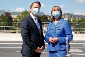 (de g. à dr.) Xavier Bettel, Premier ministre, ministre d'État ; Lydie Polfer, bourgmestre de la Ville de Luxembourg ; (© SIP / Julien Warnand, tous droits réservés)