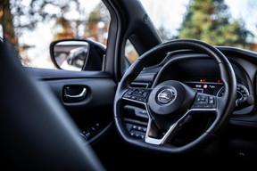 À l'intérieur, on profite de la nouvelle application NissanConnect Services. ((Photo: Edouard Olszewski))