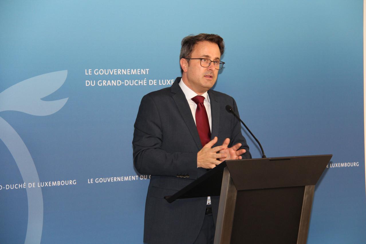 «On ne laissera personne dehors sous la pluie», avait promis le Premier ministre, Xavier Bettel (DP). (Photo: SIP)