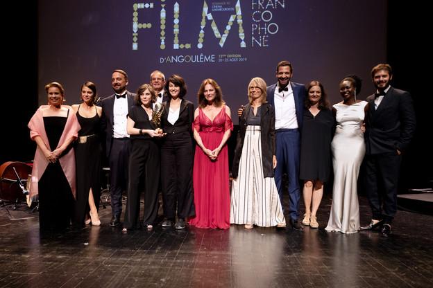 La Grande-Duchesse était notamment sur scène avec les lauréats lors de leur remise de prix à Angoulême. (Photo: Cour grand-ducale / Sophie Margue / Sylvain Lefèvre)