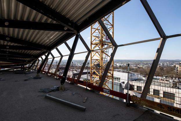 Une des vues en hauteur depuis le futur complexe immobilier. (Photo: Jan Hanrion / Maison Moderne)
