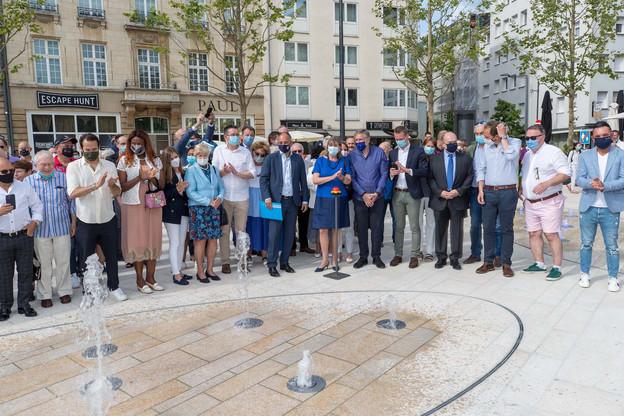 Le nouvel aménagement de la place de Paris, dans le quartier Gare à Luxembourg, a été inauguré samedi 26 juin. (Photo: Photothèque de la Ville de Luxembourg/LaurentBlum)