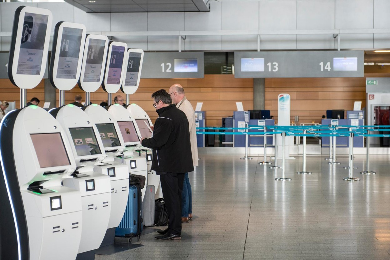 """It's """"bonjour"""" instead of """"Moien"""" on the airport's new automated announcement system Library photo: Anthony Dehez"""