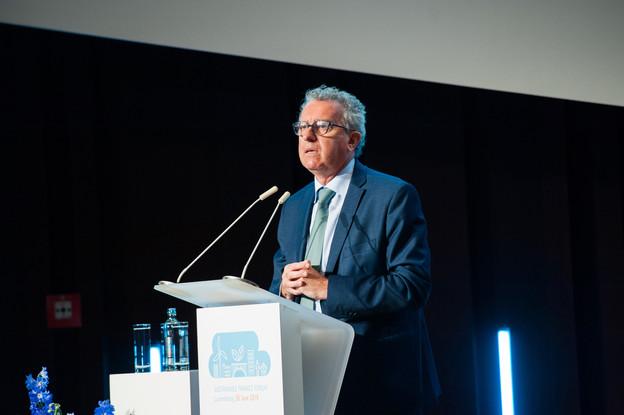 Pierre Gramegna est intervenu au Sustainable Finance Forum, puis à l'ACA. (Photo: LaLa La Photo)