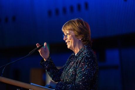 Isabelle Durant intervenait lors de la 37e édition du Stock Exchange Day le 23 mai. (Photo: Bourse de Luxembourg / Raoul Somers)