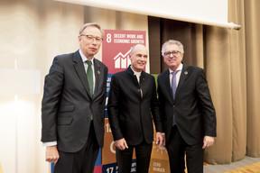 Geoffroy Bazin, Betrand Piccard et Pierre Gramegna (Patricia Pitsch - Maison Moderne Publishing SA)