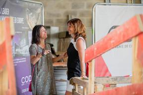 Geneviève Chabot (Pami) et Catherine Papp (Key-Way) ((Photo: Jan Hanrion / Maison Moderne))