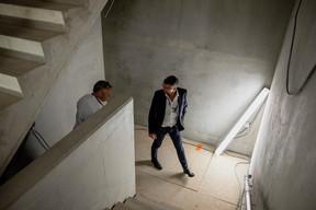 Christophe Lang (Tetra Kayser) et Darron Haylock (Foster+Partners) ((Photo: Jan Hanrion / Maison Moderne))