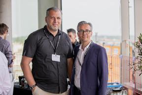 Petro Marchione (Groupe Marchione) et Fabien Roget (Tralux) ((Photo: Jan Hanrion / Maison Moderne))