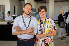 Hendi Kerdouci et Barbara Brecko (Ginkgo Solutions Facilities) ((Photo: Jan Hanrion / Maison Moderne))