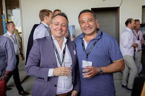 Pedro Castilho (Verbalius) et Murat Mutlu (Immo Luxembourg) ((Photo: Jan Hanrion / Maison Moderne))