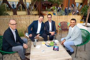 À gauche, Thierry Raizer (Maison Moderne), Thibault de Barsy et Richard Karacian (CEO de Maison Moderne) ((Photo: Anthony Dehez))