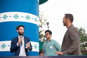 Simon Schwall (CEO de OKO), Shehzad Lokhandwalla (OKO) et Nasir Zubairi (CEO de la Lhoft) ((Photo: Anthony Dehez))