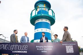 Tom Théobald (Ministère des Finances) Pascal Denis (KPMG), Simon Schwall (CEO de OKO) et Nasir Zubairi (CEO de la Lhoft) ((Photo: Anthony Dehez))