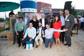 Au premier plan, les lauréats de la 4e édition des Fintech Awards et les membres du jury. ((Photo: Anthony Dehez))