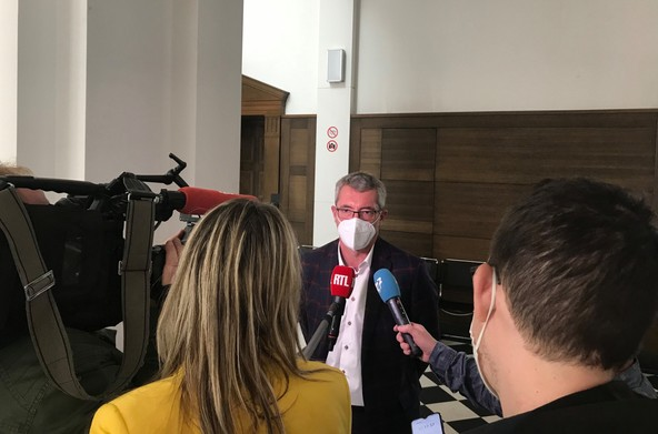 The first hearing of the trial of Frank Engel took place on Tuesday 19 October at the criminal court of Luxembourg. (Photo: Paperjam)