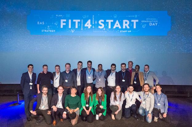 Les start-up retenues pour participer à la huitièmeédition de Fit4Start. (Photo: Marie de Decker)