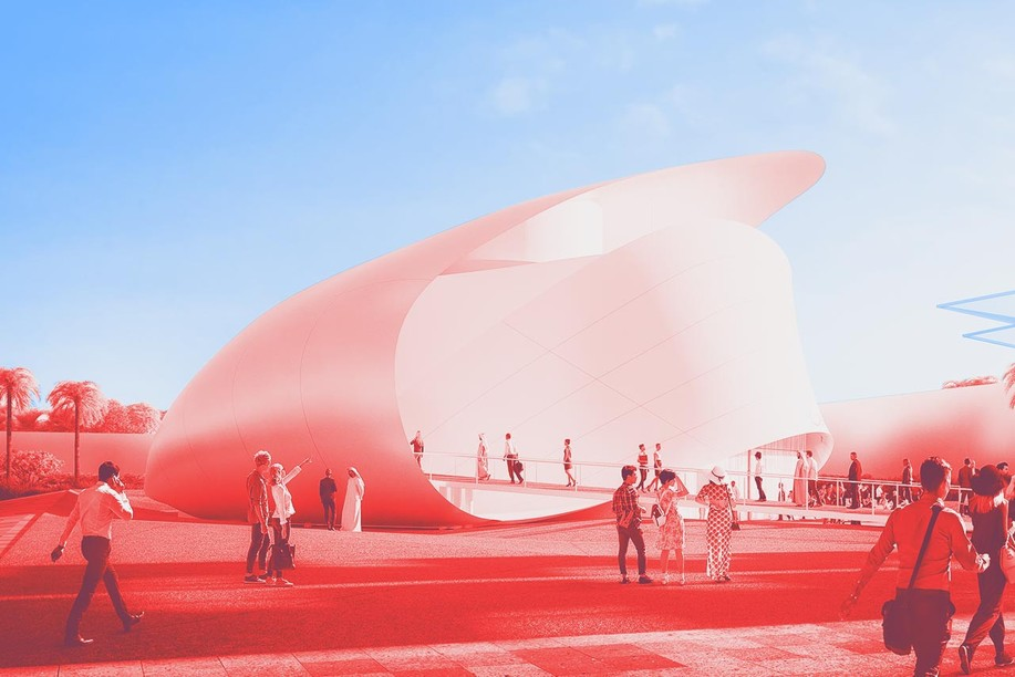 The original design behind the Luxembourg pavilion at the Expo 2020 Dubai Photo: Metaform Architects