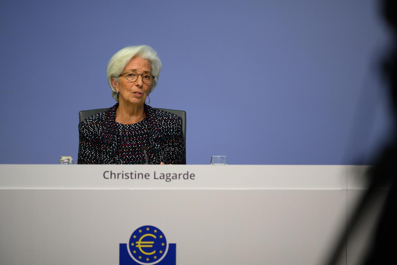 ChristineLagarde a présenté le scénario macroéconomique de la BCE, qui évalue la baisse du PIB de la zone euro entre -5% et -12% en 2020. (Photo: BCE)