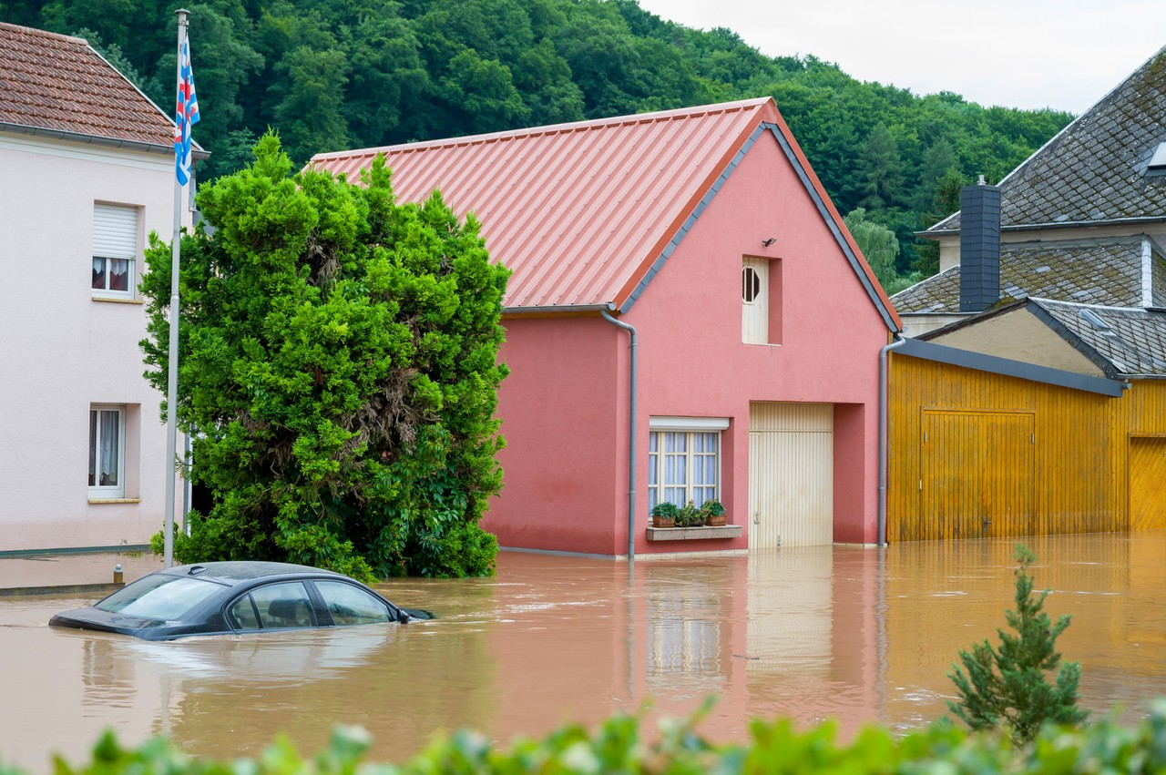 In Born (pictured), as in Echternach, the river Sûre burst its banks and caused major damage, 15 July 2021. SIP / Jean-Christophe Verhaegen