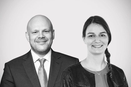 Ross Thomson, managing director chez FundRock Luxembourg, etÉmilie Allaert, head of operations and projects chez Lhoft Foundation. (Photo: Maison Moderne)
