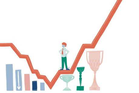 Alors que l'économie réelle a été profondément impactée par la crise du Covid-19, la finance, elle, a battu de nouveaux records en 2020. (Ilkustration: SaloméJottreau)