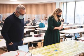 Alain Noullet (Initium Group) et Larissa Thomma (Enjoy Immobilière) (Photo: Simon Verjus/Maison Moderne)