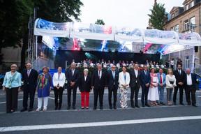 Les autorités de la Ville de Luxembourg accueillent S.A.R. le Grand-Duc Henri ((Photo: Nader Ghavami))