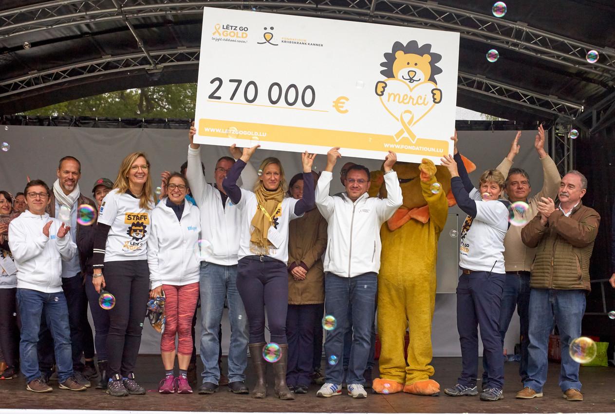 L'édition2019 du Lëtz Go Gold a permis de réunir 270.000 euros pour des projets de recherche. (Photo:Fondatioun Kriibskrank Kanner)