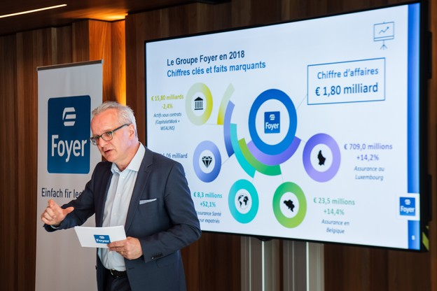 Marc Lauer, le CEO du groupe Foyer, a deux explications pour la baisse de l'assurance-vie en LPS. (Photo: Nader Ghavami)